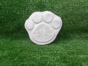New Concrete Ornament with words (Not just a dog my best friend Miss you)
