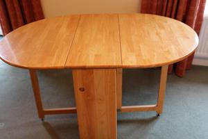 Wooden Folding Dining Table and 4 Chairs