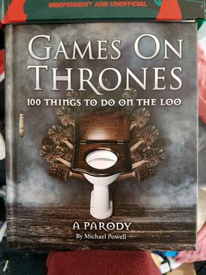 Game of thrones 100 things to do on the loo and zombie survival puzzles books.