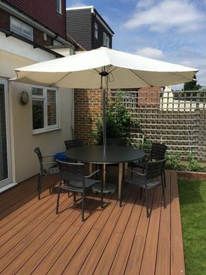 Westminster Outdoor Table, Chairs & Umbrella Set for Sale