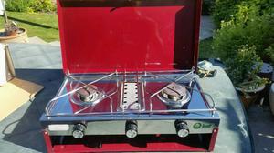 Gelert Camping Cooker 2 Burner and Grill