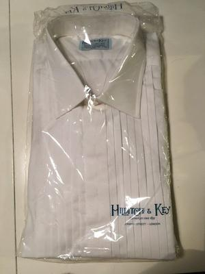 Hilditch & Key White Dress Shirt - New and Sealed - 17 inch