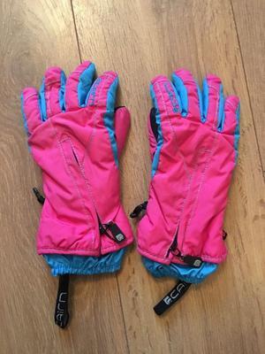 Pink kids Ski gloves