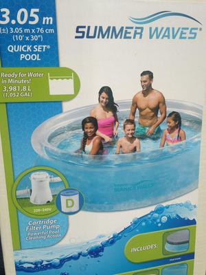 Quickset Summerwave 10ft Swimming Pool with Pump & Cover