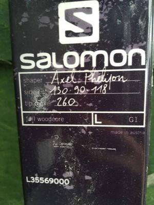 Single Salomon Q90 ski with Salomon Guardin 13 WTR Large binding