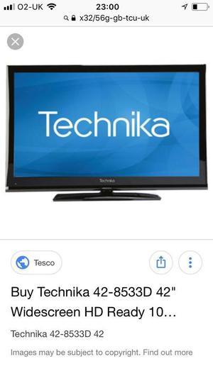 "TECHNIKA 32"" LCD HD TV BUILT IN FREEVIEW"