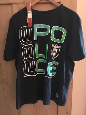 Brand new men's police t shirt