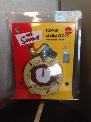 The Simpsons Topper Alarm Clock (with snooze feature)