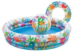 baby Paddling Pool Fishbowl Intex  Children Pool, Beach