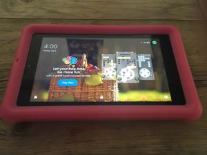 """Fire 7"""" tablet with Alexa 8gb Red with case"""