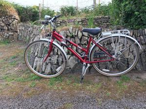 Raleigh Pioneer 140 Hybrid Ladies Women Bike Bicycle with Rear Rack - Red Colour