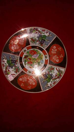Stunning Chinese multicoloured collectors plate