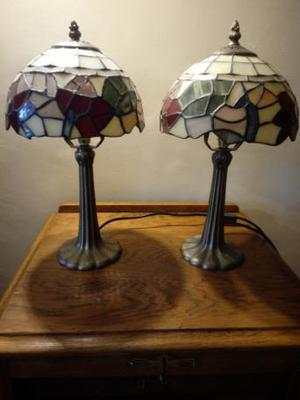 pair of Tiffany style lamps