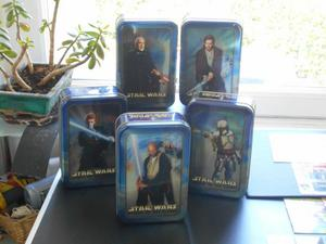 set of 5 stars wars tins
