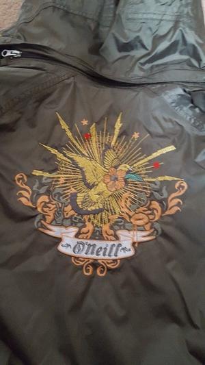 Oneil Ladies Ski jacket as new hardly worn Khaki coloured size medium