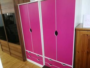 Brand new pink wardrobes 2 door 2 drawer
