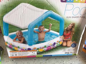 "Intex Sun Shade Inflatable Pool, 62"" X 62"" X 48"", for Ages"
