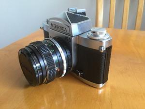Miranda Re II SLR camera + zoom lens