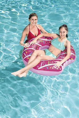 NEW Bestway Inflatable Cake Donut Lounger Tube Float Pool