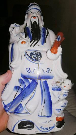 Antique Chinese hand painted god
