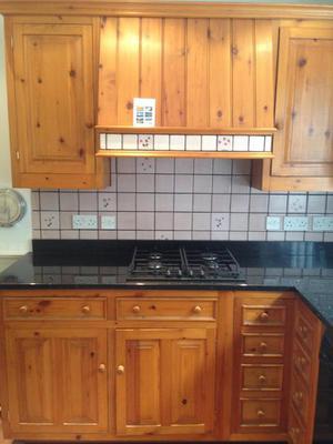 Bespoke Solid Pine Kitchen with Black Granite Worktops