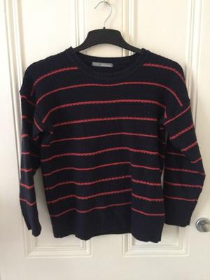 Blue and Red Striped Size 10 M&S Jumper