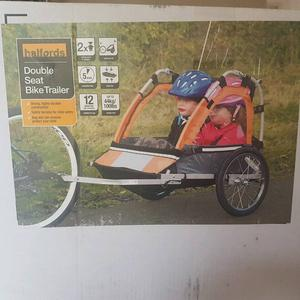 Halfords double seat bike trailer. (Brand new)