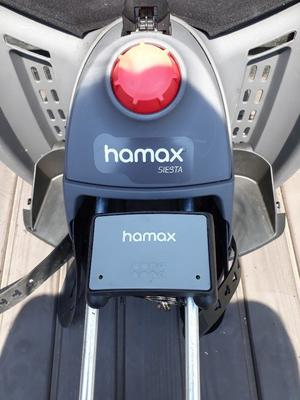 Hamax Siesta Rear Child Bike Seat- Grey with lockable bracket