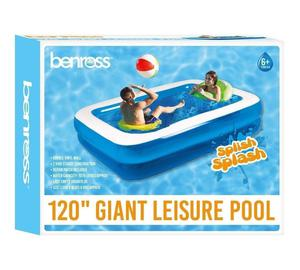 NEW LARGE FAMILY DELUXE RECTANGULAR INFLATABLE SWIMMING PADDLING POOL 79""