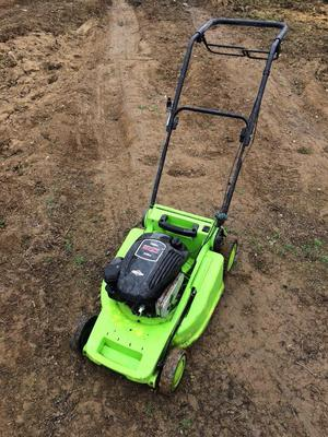 Petrol lawnmower self drive