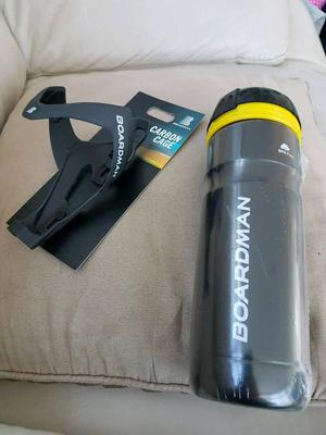 Boardman carbon cage and bottle rrp £25