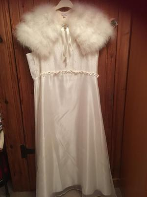 Bridesmaids dress age  yrs shrug and shoes size 6