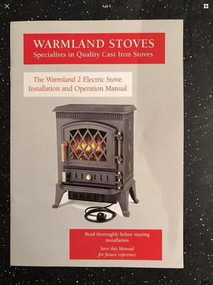 Cast iron electric fire/stove