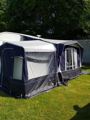 Kensington elite quest porch awning with tall bedroom annex