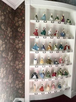 Amazing collection of 36 Royal Doulton figurines dolls - worth over £ - Country home sale