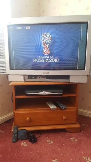 Tv Panasonic+Sky HD box + NOW TV box + tv stander