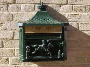 Vintage Style Wall Mounted Aluminium Post Box- Red, Black, Green or White Available