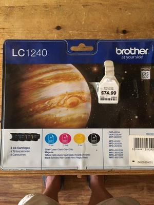 Genuine Original Brother LC Multi-Pack 4 Printer Ink Cartridges