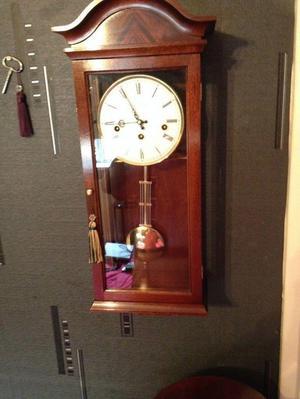 MAHOGANY WALL CLOCK COMITTI OF LONDON WESTMINSTER