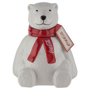 Coke Cola cookie jar and soft toy