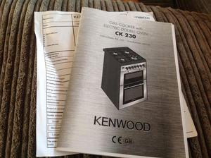 Freestanding Kenwood electric fan oven with gas hobs
