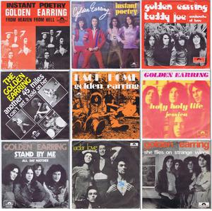 """GOLDEN EARRINGS - collection of 9 original 7"""" 45RPM w/PS 45s"""