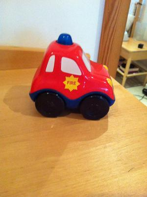 Little toy fire engine, makes fire engine noise when pressed