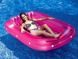 Swimming Pool Inflatable Sun Tan Tub Lounge Water Raft