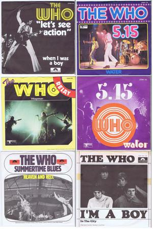 """THE WHO - lot of 6 original 7"""" RPM 45s w/PS in beautiful"""