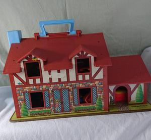 Vintage Fisher Price Carry Along House