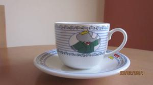 Babar the Elephant large cup and saucer