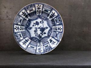 Chinese porcelain plate - late 17th C, kangxi