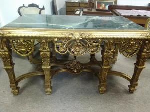 MATCHING PAIR OF GEORGE II GILT CONSOLE TABLES