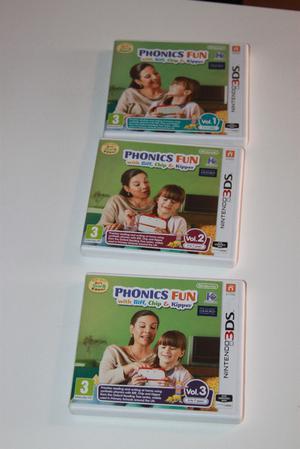 Nintendo Phonics Fun with Biff, Chip & Kipper Vol.1,2,3